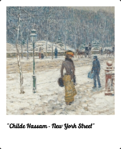 Childe Hassam - New York street