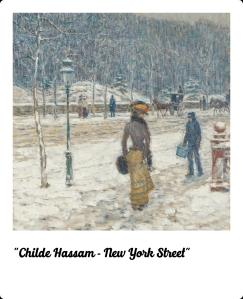 Childe Hassam - New York street